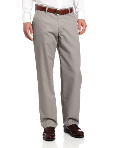 Lee Men's Total Freedom Relaxed Fit Flat Front Pant - 38W x 32L - Gray ()