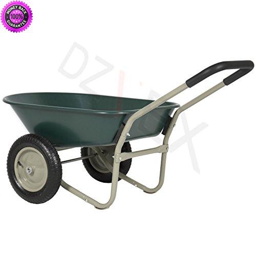 DzVeX Dual Wheel Home Wheelbarrow Yard Garden Cart And wheelbarrow tractor supply wheelbarrows home depot lowes wheelbarrow wheelbarrow wheelbarrows near me by DzVeX