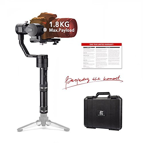 Zhiyun Crane 3-Axis Handheld Gimbal Stabilizer for Mirrorless Camera and DSLR Range from 0.77 Lb to 3.96 Lb, i.e. Canon M, Nikon J, Sony A7 and Panasonic Lumix by Zhiyun
