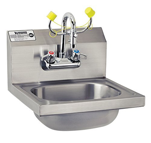 4 Bowl Sink Backsplash - Krowne Metal HS-36 Wall Mount Hand Sink/Eyewash Station w/ 12.5
