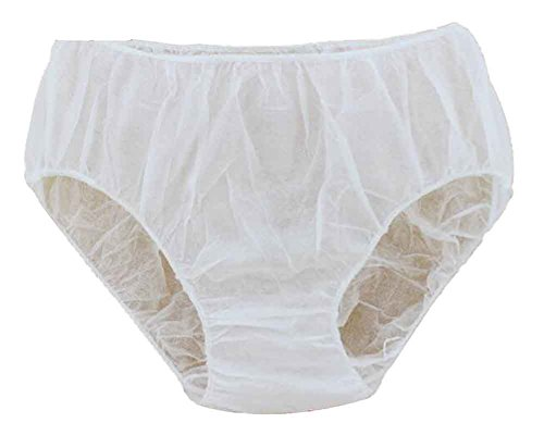 Set of 50 Disposable Non-woven Underwear for Women, One Size [White]