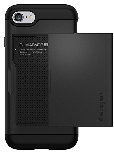 Spigen Slim Armor CS iPhone 7 Case/iPhone 8 Case with Slim Dual Layer Wallet Design and Card Slot Holder for Apple iPhone 7 (2016)/iPhone 8 (2017) - Black by Spigen