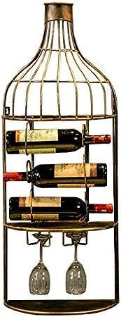 Vinotecas Botellas, Botellero Vino Wall Hanging Botellero, Colgados De La Pared Gabinete Del Vino Copa De Vino Estante De La Pared Que Cuelga De La Pared, Decoración De La Sala Multifuncional Inicio