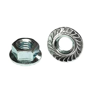 METRIC HEX NUT M12X1.75 FLANGED NON SERATED CL 10.9  YELLOW  ZINC 25 PCS.