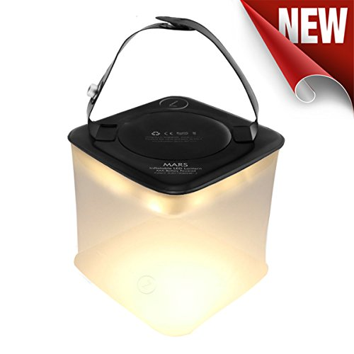 AIDIER Ztarx Inflatable LED Camping Lantern - AAA Battery Powered Cube Light Survival Kit for Outdoors, Emergency & Hurricane (Frosted, Inflatable) (Powered Flashlight Squeeze)