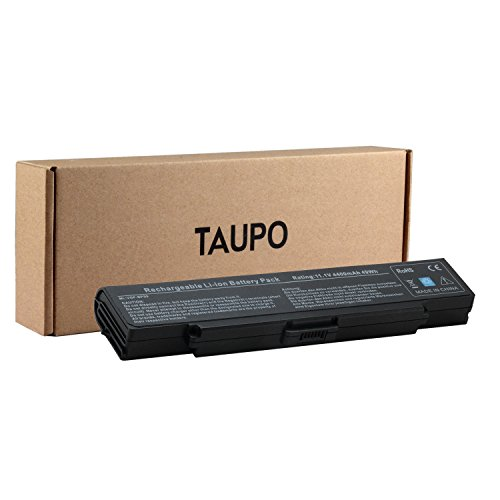 Taupo 6 Cell Laptop Battery For Sony Vaio Pcg Vgn Ar Vgn Nr Vgn Sz Vgn Cr Series  Fits P N Bps9 Vgp Bpl9 Vgp Bps9 Vgp Bps9 B Vgp Bps9 S Vgp Bps9a Vgp Bps9a B   12 Months Warranty  Black