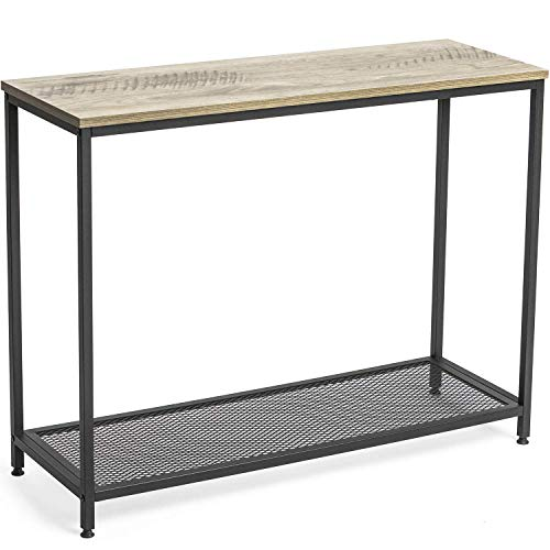 Ballucci Vintage Console Table, Entry Hallway Table with Metal Shelf, Sofa Side Table for Entryway Living Room, Easy to Assemble, Rustic Grey (Tables Hallway Entry And)