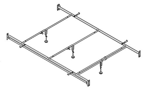 Full to Queen Converter Rail, Bolt-on with 3 Center Supports