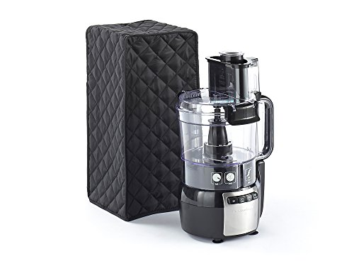 CoverMates – Food Processor Cover – 11W x 9D x 15H – Diamond Collection – 2 YR Warranty – Year Around Protection - Black