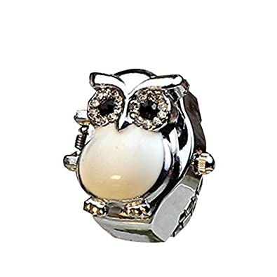 LHWY Nueva Caliente Creativo Moda Retro Owl Dedo Anillo Reloj Reloj Clamshell: Amazon.es: Joyería