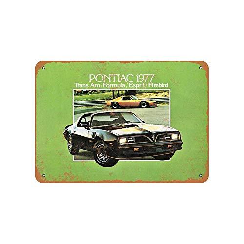Fhdang Decor Vintage Pattern 1977 Pontiac Trans Am Vintage Look Aluminum Sign Metal Sign,6x9 Inches