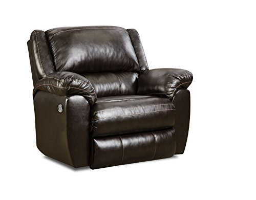 Simmons Upholstery 50433PBR-19 Bingo Power Rocker Recliner, Brown by Simmons Upholstery