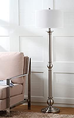 Safavieh Lighting Collection Theo Nickel 60-inch Floor Lamp