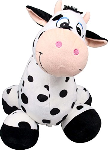 inflate-a-mals Inf-RO-Cow Soft and Cuddly Inflatable Ride, - Cow Soft
