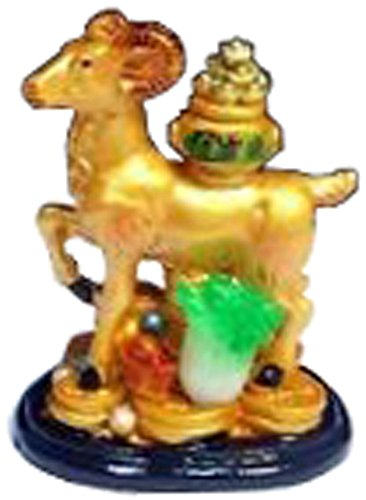 Chinese Year of the Ram/sheep/goat Zodiac Sign Feng Shui Lucky Figurine Statue D (Sheep 2015 Figurine)