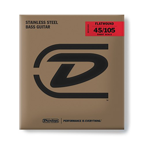 Dunlop Flatwound Short Scale 45/105 Medium 4/SET Bass Guitar Strings (DBFS45105S)