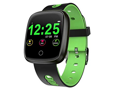 - Smart Watch Blood Pressure Monitor for Women Men - Smart Wristband Heart Rate Monitor Blue Tooth Fitness Smartwatch (Green)