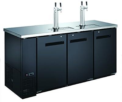 """72"""" 3-Door Commercial Beer Dispenser - Double Tower Keg Cooler - Kegerator UDD-24-72"""