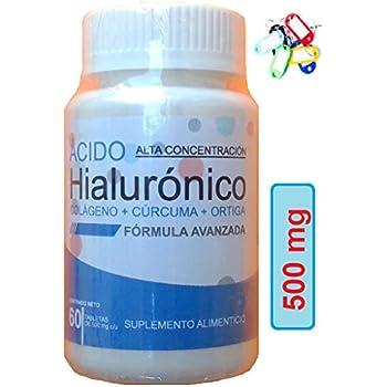 Amazon.com: Colágeno ácido hialurónico Curcuma Nettle 30 ...