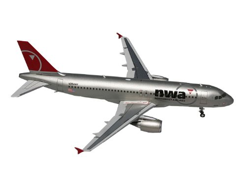 GeminiJets Northwest A320 Die Cast Aircraft, 1:200 Scale