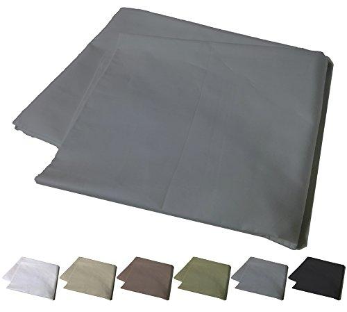 Body Pillowcase, 400 Thread Count, 100% Cotton, Non-zippered Cover for Your 20 x 56 Body or Pregnancy Pillow, Gray