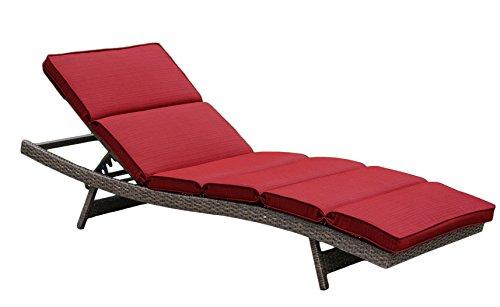 Creative Living 10093546 Bali Single Chaise Lounge, Ribbed Brick (Chaise Lounge Brick)