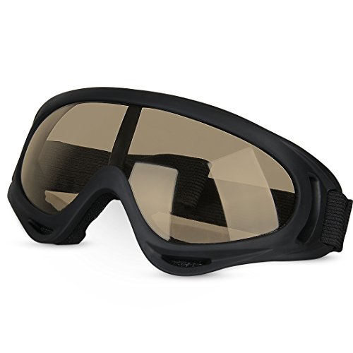 Ski Goggles, GARDOM Tactical Goggles Military Eyewear CS Army Glasses Sport Sun Glasses UV Protection Snowmobile Bicycle Motorcycle Protective Glasses with Adjustable Strap
