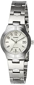 Casio ltp-1241d-2-Wristwatch for women, Blue and Silver