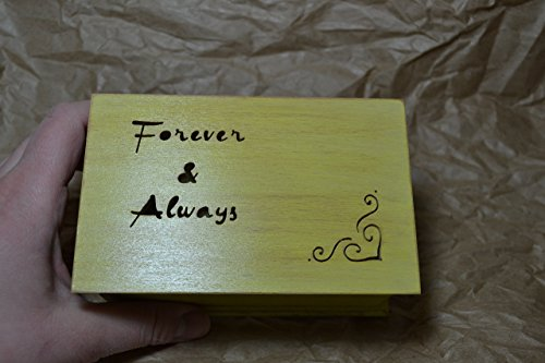 jewelry box, music box, you and me gift, custom made music box, handmade jewelry box, anniversary gift, Forever and Always, simplycoolgifts by Simplycoolgifts