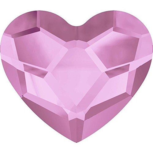 2808 Swarovski Nail Art Gems & Flatback Crystal Shapes Heart 6mm | Rosaline | 6mm - Pack of 10 | Small & Wholesale Packs