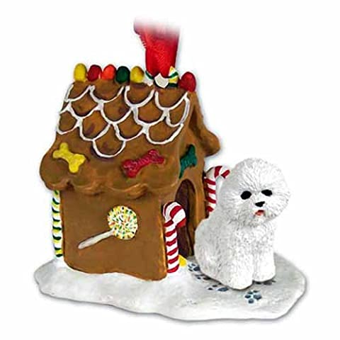 Bichon Frise Gingerbread House Ornament - Gingerbread House Felt