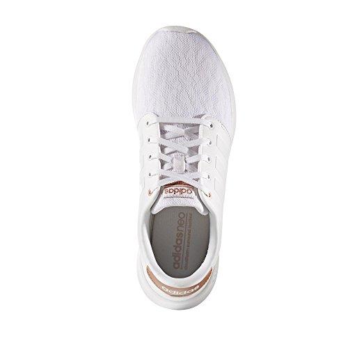 adidas Cloudfoam Qt Racer W, Zapatilla de Deporte Ftwr White/Ftwr White/Copper Met.