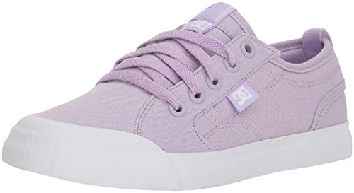 DC Youth Evan TX (Little) Skate Shoe, Lilac, 6.5 M US Big (Purple Dc Shoes)