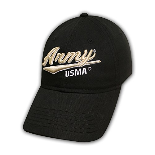 Ouray Sportswear NCAA US Military Academy Cadets Epic Washed Twill Cap, Adjustable Size, Black
