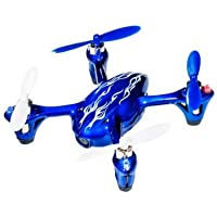 Quadcopter with HD 2MP Camera RTF by Hubsan Features Palm-Sized Remote-Controlled Helicopter, Royal Blue