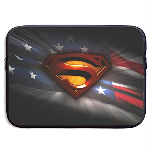 (Laptop Sleeve Bag 3D Superman Tablet Briefcase Carrying Bag for 13-15 Inch Notebook Tablet IPad Tab)