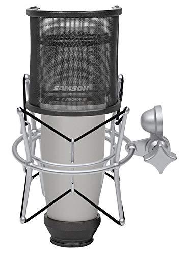 (Samson C01 Studio Condenser Recording Microphone+Shock Mount+Curved Pop Filter)