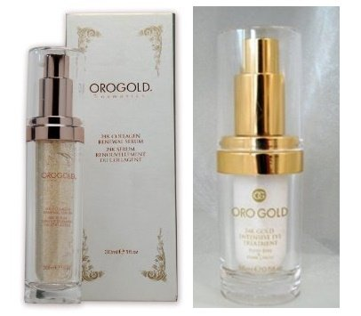 ORO GOLD Cosmetics 24K Eye Care Collection (Eye Care Collection Set Cream Serum) by Orogold
