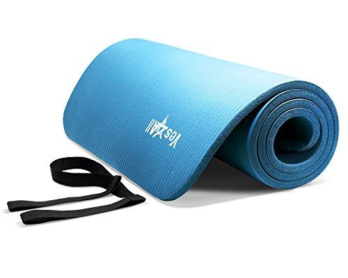 BLUE NPR Yoga Mat 72x24x1