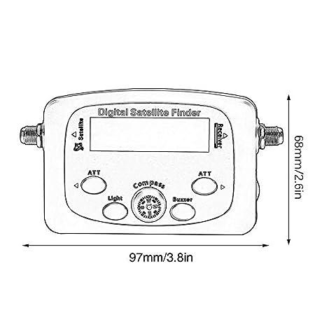 Yaoaoesn JS-SF06 portátil LCD Digital Buscador de Satélite Medidor de Intensidad de señal Buscador de señal de satélite TV Detector de satélite Herramienta: ...