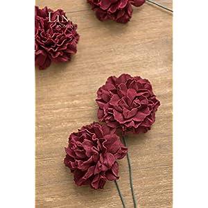 Ling's moment Artificial Foam Carnation Flowers for Wedding Bouquet Table Centerpieces Decor 3
