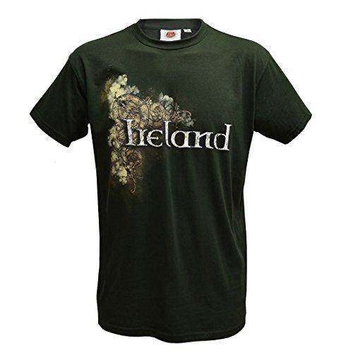Traditional Craft Bottle Green Celtic Ireland Men's T-Shirt (X-Large)