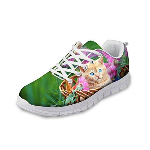退却裁定不平を言うThiKin スポーツシューズ レディース かわいい 猫 柄 軽量 トラベルランニングシューズ 個性的 クッション性 カジュアル デイリー 3Dプリント 靴 日常着用 通気 おしゃれ ファッション 通勤 通学 プレゼント