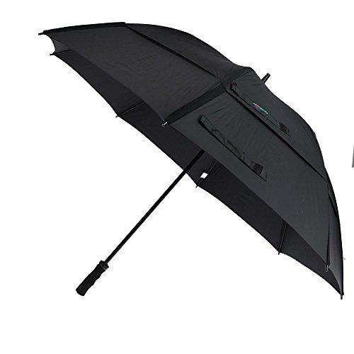 GustBuster Proseries Gold 62-Inch Golf Umbrella (Black)