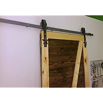 Rustic Antique Country Sliding Barn Door Hardware Kit 8