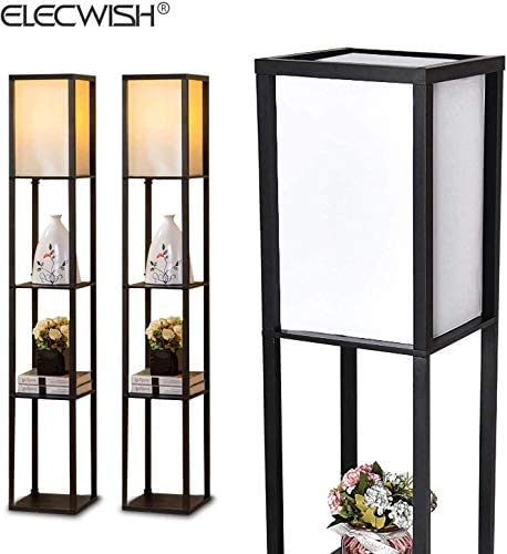 Shelf Floor Lamp Black