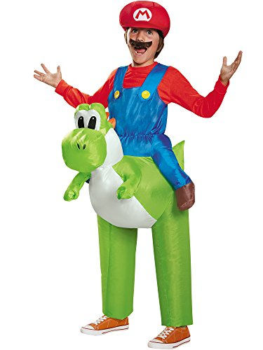 Disguise 85150CH Mario Riding Yoshi Child Costume, One Color, One Size Child]()