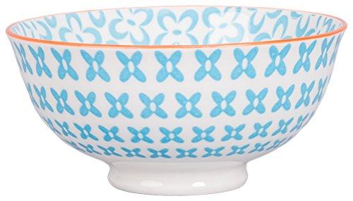 - BIA Cordon Bleu Ooh La La 13-Ounce Porcelain Peony Bowl, Set of 4, Turquoise