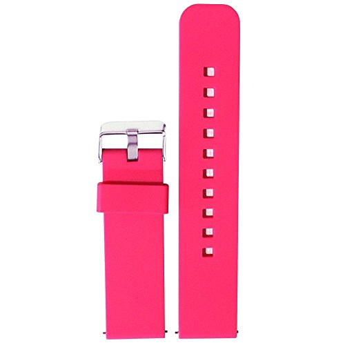 ECSEM 22mm Replacement Silicone Band Soft Rubber Watch Strap for Samsung Gear 2 Neo SM-R381 Smartwatch /No Watch(Pink)