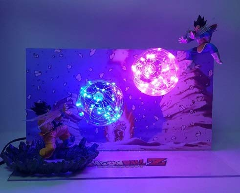 Discount-Gaming Dragon Ball Z Goku vs Vegeta Action Figure Lamp (Vegeta Vs Goku)